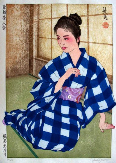 "Paul Binnie - Prints - Bijin-ga - ""After the Bath"" Furo agari"