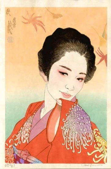 "Paul Binnie - Prints - Bijin-ga - ""Autumn"" Aki"