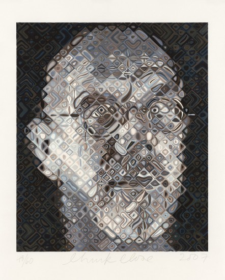 Chuck Close - Self-Portrait Woodcut 2007