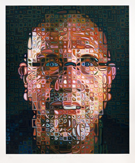 Chuck Close - Self-Portrait Screenprint 2012