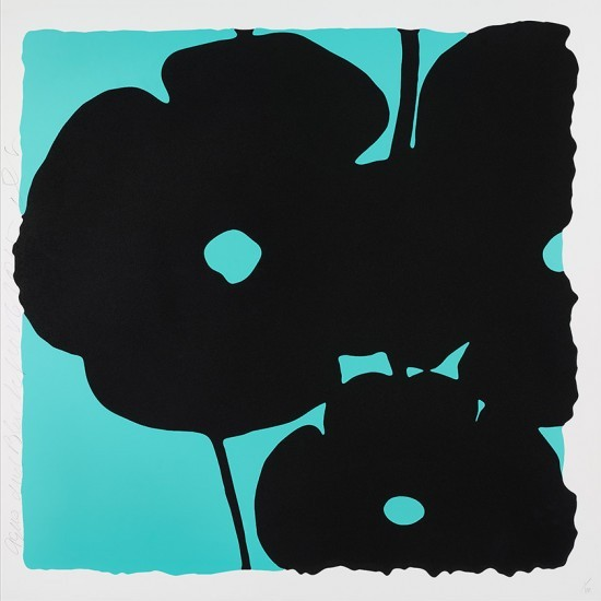 Donald Sultan - Aqua and Black, Nov 6, 2015
