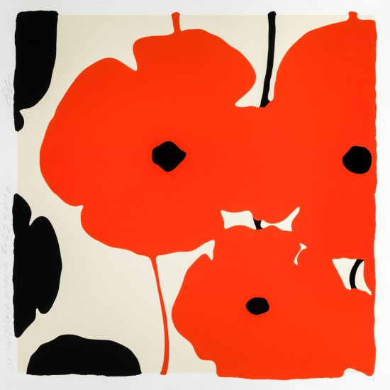 Donald Sultan - Red and Black Poppies, Feb 3, 2020