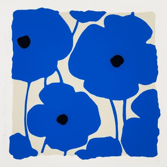 Donald Sultan - Three Poppies, Blues, Dec 2, 2020