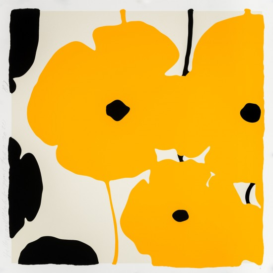 Donald Sultan - Yellow and Black Poppies, Feb 3, 2020