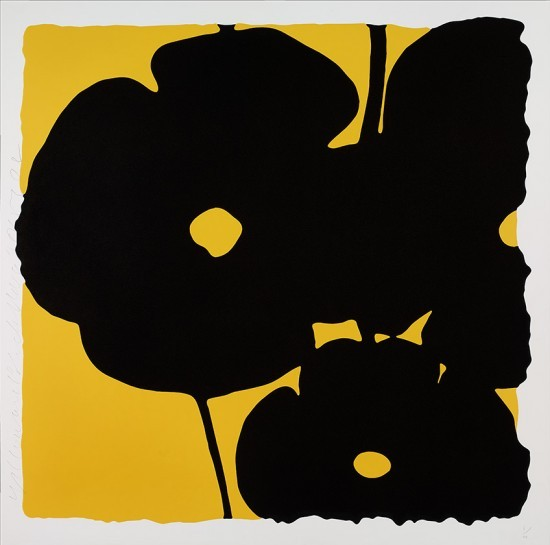 Donald Sultan - Yellow and Black, Nov 6, 2015