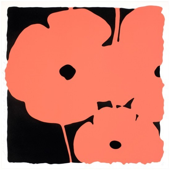 Donald Sultan - Poppies – June 4, 2011 (Coral)