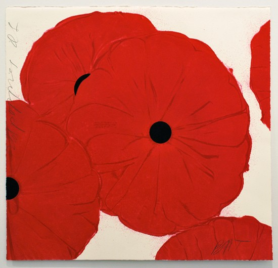 Donald Sultan - Red Poppies - March 21, 2012
