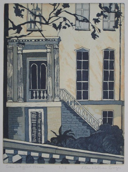 Ellen Nathan Singer - Prints - Sun Dapled House