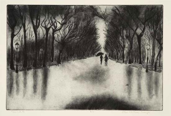 Ellen Nathan Singer - Prints - The Walk