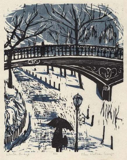 Ellen Nathan Singer - Prints - Winter Bridge
