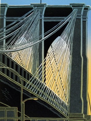 Emily Trueblood - Dusk at the Brooklyn Bridge