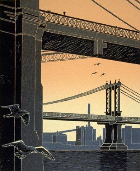 Emily Trueblood - Manhattan Bridge Under the Brooklyn Bridge