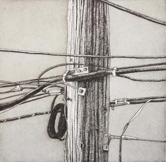 Eric Goldberg - Prints - Composition in Wire and Wood