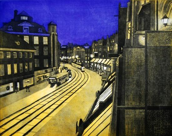 Eric Goldberg - Prints - Evening Balcony in Amsterdam