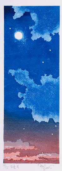 "Paul Binnie - Prints - Fukei-ga 2 - ""Dawn Moon"" Gyogetsu"