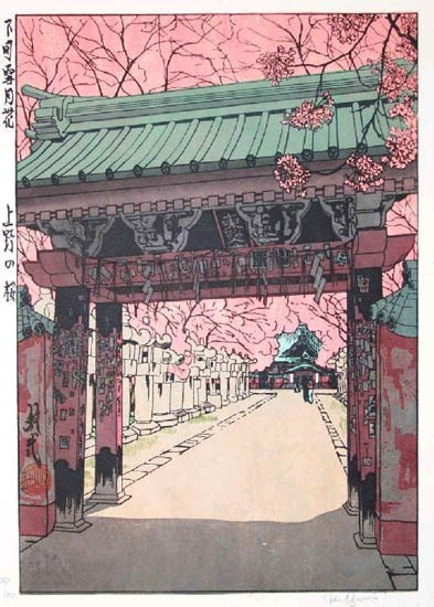 "Paul Binnie - Fukei-ga - Prints - ""Cherry Blossoms at Ueno"" Ueno no Sakura"