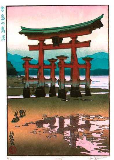 "Paul Binnie - Fukei-ga - Prints - ""The Torii Gate at Miyajima"" Miyajima no torii"
