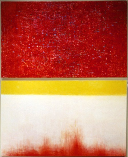 Keiko Hara Paintings - Verse Imbuing in Red