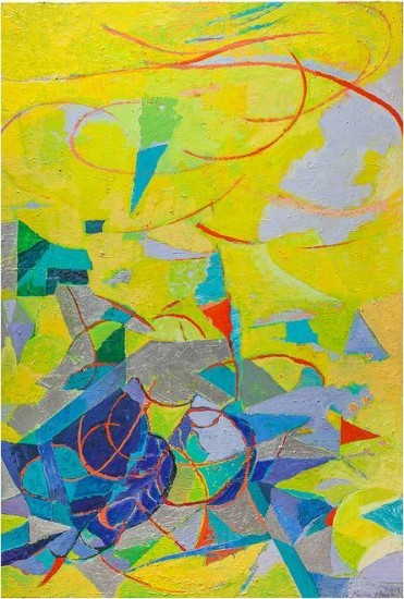 Keiko Hara Paintings - Verse Space Ma and Ki Yellow