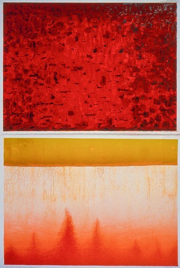 Keiko Hara - Works on paper - Verse · Imbuing in Red