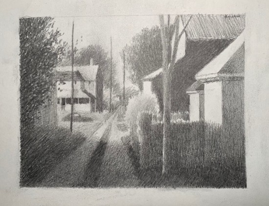 Robert Kipniss - Drawings - Alleys, Springfield Preparatory Sketch