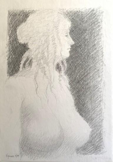Robert Kipniss - Drawings - untitled figure drawing 2