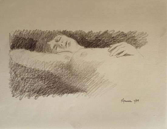 Robert Kipniss - Drawings - untitled figure drawing 3