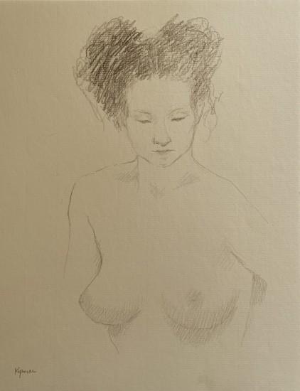 Robert Kipniss - Drawings - untitled figure drawing 6