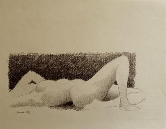 Robert Kipniss - Drawings - untitled figure drawing 1