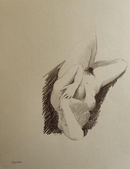 Robert Kipniss - Drawings - untitled figure drawing 7