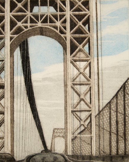 Linda Adato - Color etchings: urban landscapes and other imagery - Clouds & Cables