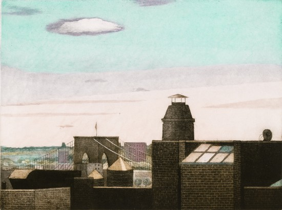 Linda Adato - Color etchings: urban landscapes and other imagery - Skylight