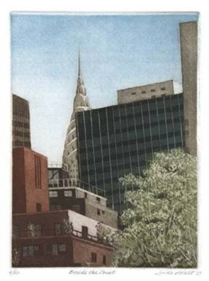Linda Adato - Color etchings: urban landscapes and other imagery - Beside the Point