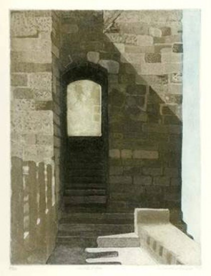 Linda Adato - Color etchings: urban landscapes and other imagery - Castle Edge