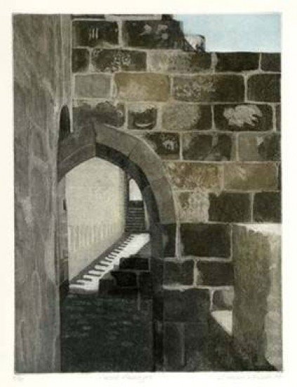 Linda Adato - Color etchings: urban landscapes and other imagery - Castle Passages