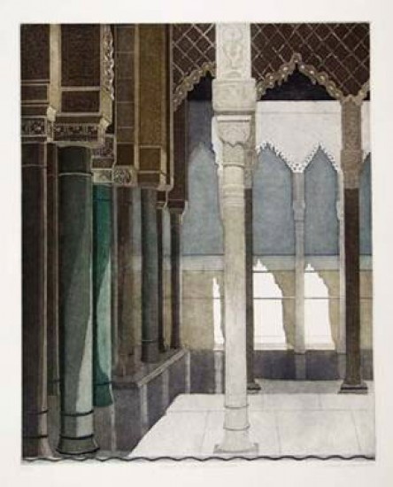Linda Adato - Color etchings: urban landscapes and other imagery - Court of Appeals & Pillars