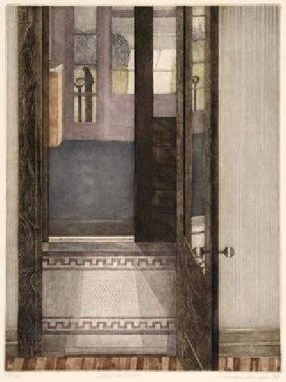 Linda Adato - Color etchings: urban landscapes and other imagery - Door to Door