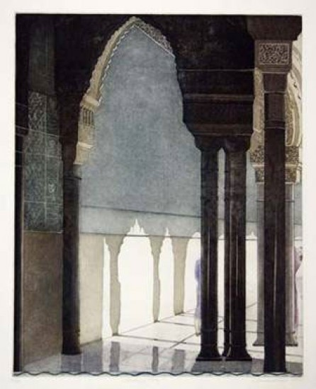 Linda Adato - Color etchings: urban landscapes and other imagery - Marking Time