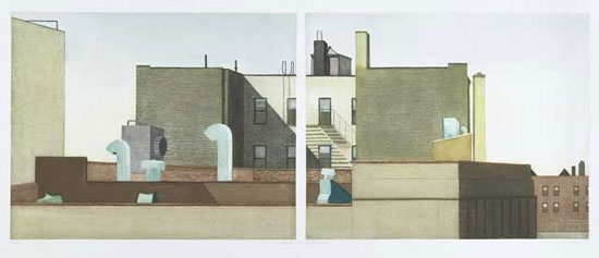 Linda Adato - Color etchings: urban landscapes and other imagery - Vents & Variegations