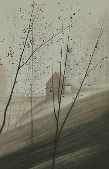 Robert Kipniss - Lithographs - Shadowed Hillside