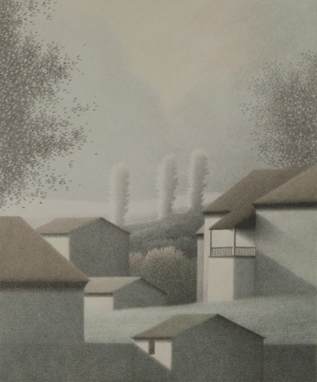 Robert Kipniss - Lithographs - Small Porch and Clouds