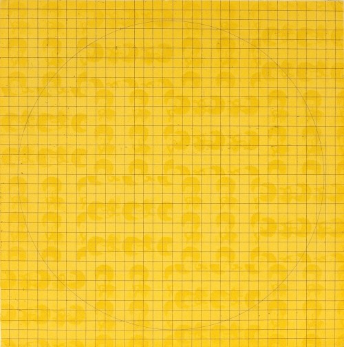 McArthur Binion - MAB: (Etching II) 1971 Yellow, 2016