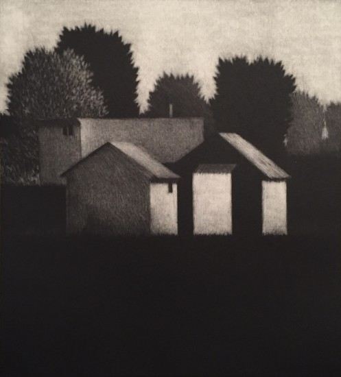 Robert Kipniss - Mezzotints - Near town, morning
