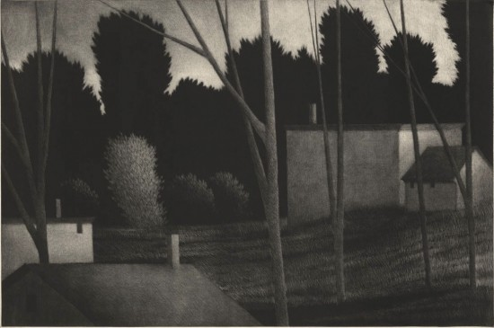 Robert Kipniss - Mezzotints - Rooftops & chimneys