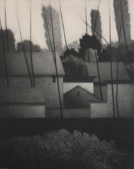 Robert Kipniss - Mezzotints - At the edge of the village