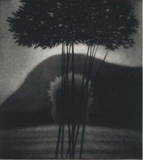 Robert Kipniss - Mezzotints - Evening II