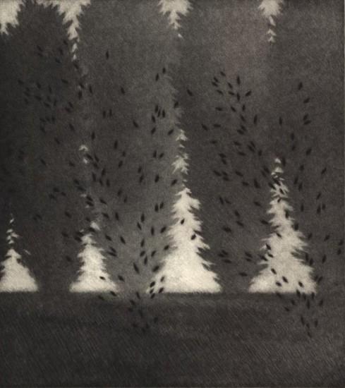 Robert Kipniss - Mezzotints - Fluttering