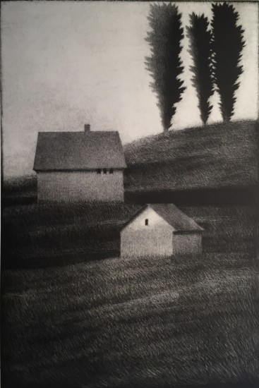 Robert Kipniss - Mezzotints - Three trees