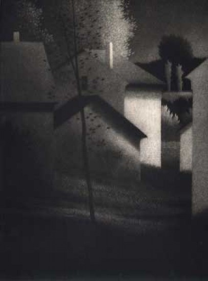 Robert Kipniss - Mezzotints - Houses and sheds