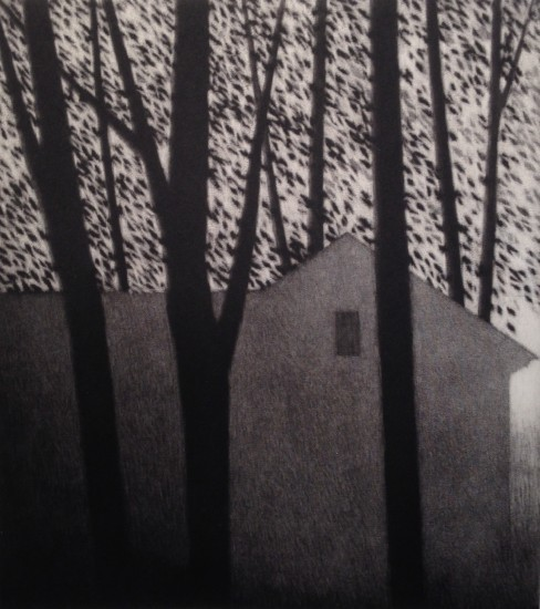 Robert Kipniss - Mezzotints - House & leaves